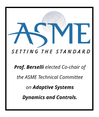 Prof. Berselli elected Co-chair of the ASME Technical Committee on Adaptive Systems Dynamics and Controls.