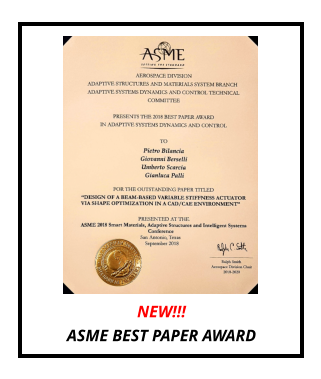 NEW!!! ASME BEST PAPER AWARD